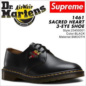 ドクターマーチン 3ホール 1461 メンズ シューズ シュプリーム Dr.Martens Supreme SACRED HEART 3EYE SHOE 23450001 コラボ ブラック 9/20 新入荷|sneak