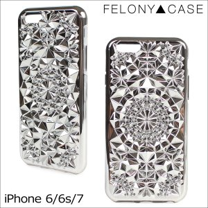 フェロニーケース Felony Case iPhone7 6 6s ケース スマホ iPhoneケース アイフォン アイフォーン レディース シルバー sneak