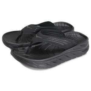 HOKA ONEONE ホカオネオネ サンダル リカバリー メンズ 厚底 ORA RECOVERY FLIP ブラック 黒 1099675|sneak