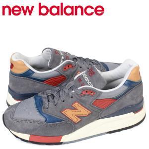 ニューバランス 998 メンズ new balance スニーカー M998DBR Dワイズ MADE IN USA 靴 グレー|sneak