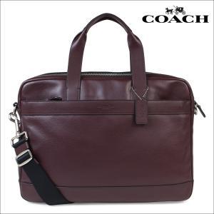 【訳あり】コーチ COACH バッグ ビジネス メンズ ブリーフケース レザー F54801 オックスブラッド レッド|sneak