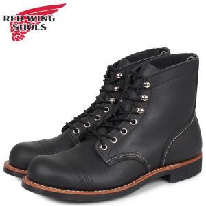 レッドウィング RED WING アイアン レンジ 6インチ ブーツ メンズ Dワイズ アイアンレンジャー 6INCH IRON RANGER ブラック 黒|sneak