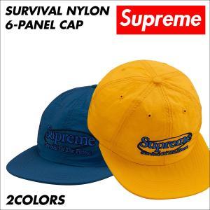 シュプリーム Supreme キャップ 帽子 メンズ レディース Survival Nylon 6-Panel Cap ネイビー ゴールド 予約商品 9/25頃入荷予定 新入荷|sneak