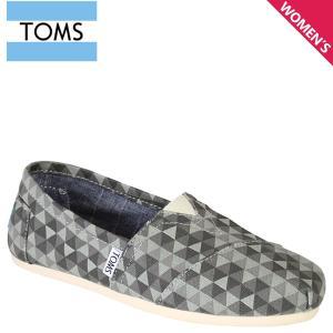 TOMS SHOES トムズ シューズ レディース スリッポン WOMEN'S CLASSICS キャンバス クラシック トムス トムズシューズ 10002838 グレー sneak