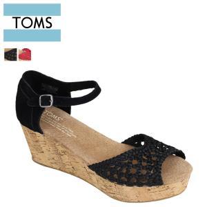 TOMS SHOES トムズ シューズ レディース ウェッジ サンダル WOMEN'S PLATFORM WEDGES プラットフォーム トムス トムズシューズ 100049 2カラー sneak
