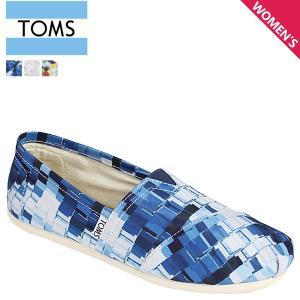 TOMS SHOES トムズ シューズ レディース スリッポン WOMEN'S SEASONAL CLASSICS シーズナル クラシックス キャンバス トムス 100049 3カラー sneak