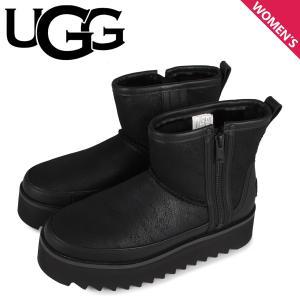 UGG アグ ショートブーツ クラシック リベル ミニ レディース レザー CLASSIC REBEL BIKER MINI BOOT ブラック 黒 1105314 予約商品 9/13 新入荷 sneak