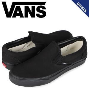 VANS バンズ スリッポン スニーカー メンズ レディース ヴァンズ CLASSIC SLIP-ON ブラック 黒 VN000EYEBKA 9/13 追加入荷 sneak