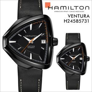 ハミルトン HAMILTON 腕時計 ベンチュラ メンズ 時計 42mm VENTURA ELVIS80 AUTO H24585731 ブラック 防水|sneak