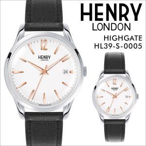 ヘンリーロンドン HENRY LONDON 腕時計 メンズ レディース ハイゲート 時計 39mm HIGHGATE HL39-S-0005 ホワイト|sneak