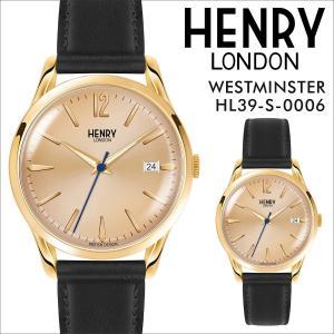 ヘンリーロンドン HENRY LONDON 腕時計 メンズ レディース ウェストミンスター 時計 39mm WESTMINSTER HL39-S-0006 ゴールド|sneak