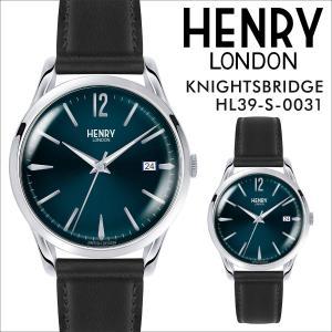 ヘンリーロンドン HENRY LONDON 腕時計 メンズ レディース ナイツブリッジ 時計 39mm KNIGHTSBRIDGE HL39-S-0031 ミッドナイトブルー|sneak