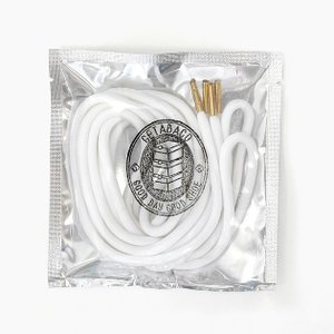 GETABACO 靴ひも METALTIP ROPE LACES WHITE/GOLD ゲタバコ ロ...