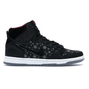NIKE DUNK HIGH PREMIUM SB BROOKLYN PROJECTS PAPARAZZI BLACK/BLACK-VALIANT RED|sneaker-shop-link