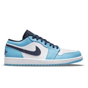 NIKE AIR JORDAN 1 LOW UNC WHITE UNIVERSITY BLUE BLACK 553558-144|sneaker-shop-link