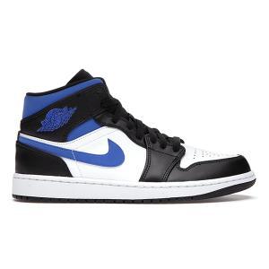 【予約】NIKE AIR JORDAN 1 MID WHITE BLACK BLUE 554724-140|sneaker-shop-link
