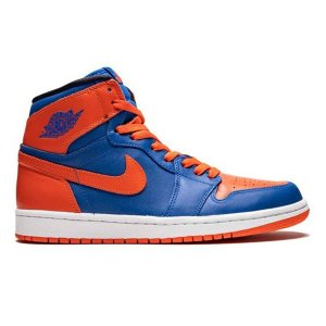NIKE AIR JORDAN 1 RETRO HIGH OG KNICKS GAME ROYAL TEAM ORANGE GAME ROYAL|sneaker-shop-link