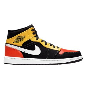 NIKE AIR JORDAN 1 MID ROSWELL RAYGUNS RED YELLOW B...