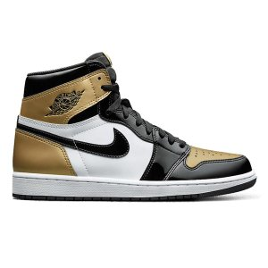 NIKE AIR JORDAN 1 RETRO HIGH OG NRG GOLD TOE BLACK/METALLIC GOLD/WHITE