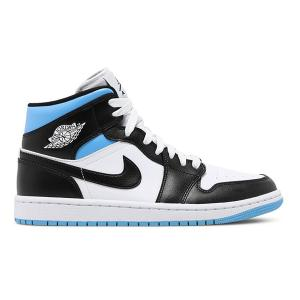 NIKE WMNS AIR JORDAN 1 MID  WHITE BLACK UNIVERSITY BLUE|sneaker-shop-link