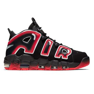 NIKE AIR MORE UPTEMPO 96 BLCK WHITE RED