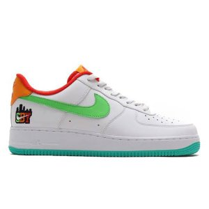 NIKE AIR FORCE 1 SBY COLLECTION WHITE GREEN EMERAL...