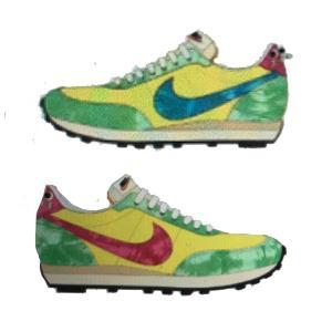 【予約】NIKE WAFFLE TRAINER 2 LT VOLTAGE YEL FUSION RED LT GREEN SPARK DM6221-702|sneaker-shop-link