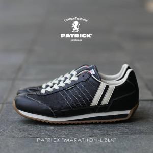 パトリック PATRICK スニーカー MARATHON-L マラソン レザー BLK ブラック 98701