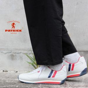 【交換送料完全無料】 定番 パトリック PATRICK スニーカー マラソン レザー トリコロール MARATHON-L TRC 98800