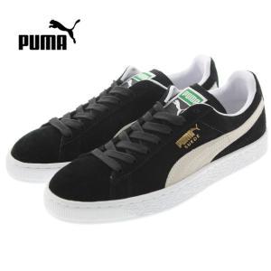 定番 プーマ PUMA SUEDE CLASSIC + スウェード クラシック プラス ブラック/ホワイト 352634-03|sneaker-soko
