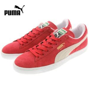 定番 プーマ PUMA SUEDE CLASSIC + スウェード クラシック プラス チームリーガルレッド/ホワイト 352634-05|sneaker-soko