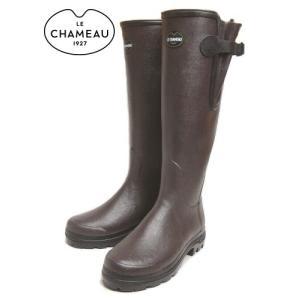 20%OFF レインブーツ LE CHAMEAU ルシャモー VIERZON LADY 2 MARRON EBENE BCB1848|sneaker-soko