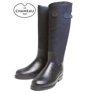 SALE レインブーツ LE CHAMEAU ルシャモー ZENA FE CHEVRON MARINE BCB1849|sneaker-soko