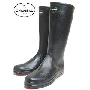 20%OFF レインブーツ LE CHAMEAU ルシャモー BOTTE CABOURG NOIR/ROUGE BCB1899|sneaker-soko