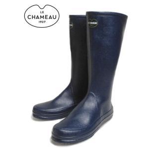 20%OFF レインブーツ LE CHAMEAU ルシャモー BOTTE CABOURG MARINE GRISE BCB1899|sneaker-soko