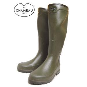 SALE レインブーツ LE CHAMEAU ルシャモー COUNTRY XL VERT OLIVE BCB1748|sneaker-soko
