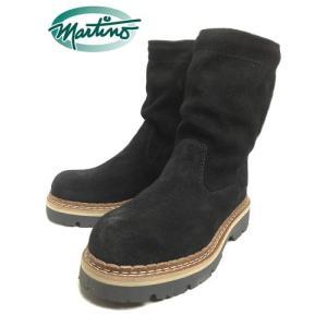 SALE martino マルティノ ブーツ BRAIDED ブライデッド スエードブラック/ブラック MTHMI002-03 sneaker-soko