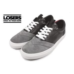 SALE LOSERS ルーザーズ UNEAKER ユニーカー ヌレバブラック/ナマリグレー 14AWUN01|sneaker-soko