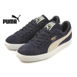定番 プーマ PUMA SUEDE CLASSIC + スウェード クラシック プラス ピーコート/ホワイト 356568-51|sneaker-soko