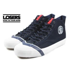 ルーザーズ LOSERS SCHOOLER CL HI スクーラー クラシック ハイ メタルネイビー SSCH02|sneaker-soko