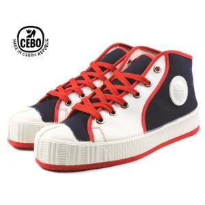 20%OFF CEBO セボ 702F ネイビー/ホワイト/レッド メンズ|sneaker-soko