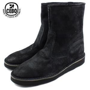 30%OFF CEBO セボ 25070B-C ブラックスエード メンズ ブーツ|sneaker-soko