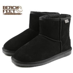SALE BEACH FEET ビーチフィート クラシック ブーツ ミニ ブラック BEF007-00 レディース|sneaker-soko