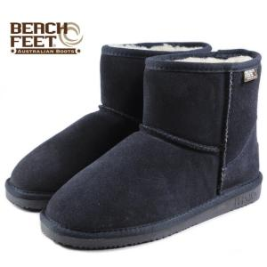 SALE BEACH FEET ビーチフィート クラシック ブーツ ミニ ネイビー BEF007-02 レディース|sneaker-soko