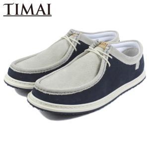 20%OFF ティマイ TIMAI RAIOH LE STD ライオー レザー スタンダード ホワイト/ネイビー TIHUD060-03|sneaker-soko