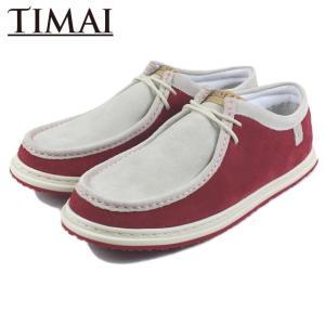 20%OFF ティマイ TIMAI RAIOH LE STD ライオー レザー スタンダード ホワイト/レッド TIHUD060-04|sneaker-soko