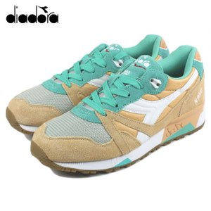 30%OFF DIADORA ディアドラ N9000 NYL N9000 ナイロン ゴールデンストロー/バミューダグリーン 160827-01-C6121|sneaker-soko