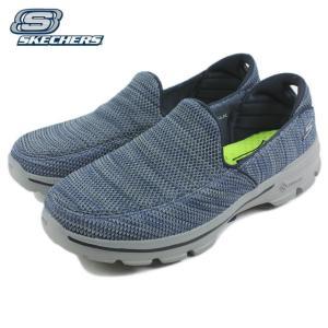 10%OFF スケッチャーズ スニーカー GO WALK 3 FITKNIT ゴー ウォーク 3 フィットニット ネイビー/グレー 54047-NVGY|sneaker-soko