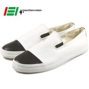 10%OFF マカロニアン maccheronian 4001L ホワイト/ブラック|sneaker-soko