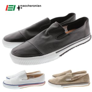 10%OFF マカロニアン maccheronian 4001 ブラック(ブラックライン) ホワイト(ブルー&レッドライン) ベージュスエード(ブラウンライン)|sneaker-soko